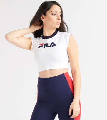 8f16d071874a FILA Pia Archive Crop Top Tee