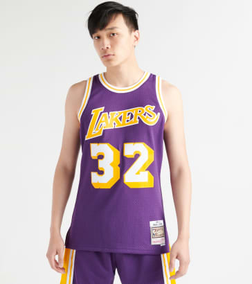 9d4a0215cf7 Mitchell and Ness Magic Johnson LA Lakers Swingman Jersey
