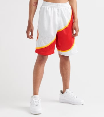 aae0f20cb1495b Mitchell and Ness Atlanta Hawks Platinum Swingman Shorts