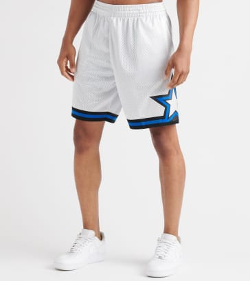 1a28019df20 Mitchell and Ness Orlando Magic Platinum Swingman Shorts