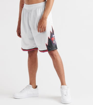d6cb03d7b193d2 Mitchell and Ness Toronto Raptors Platinum Swingman Shorts