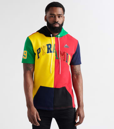 Black Pyramid Varsity Split Pullover Hoodie ca053a7b4