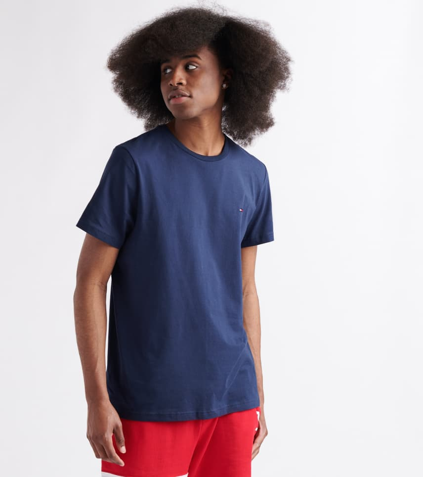 35adee30 Tommy Hilfiger Chest Logo Solid Tee (Navy) - 09T3139-410 | Jimmy Jazz