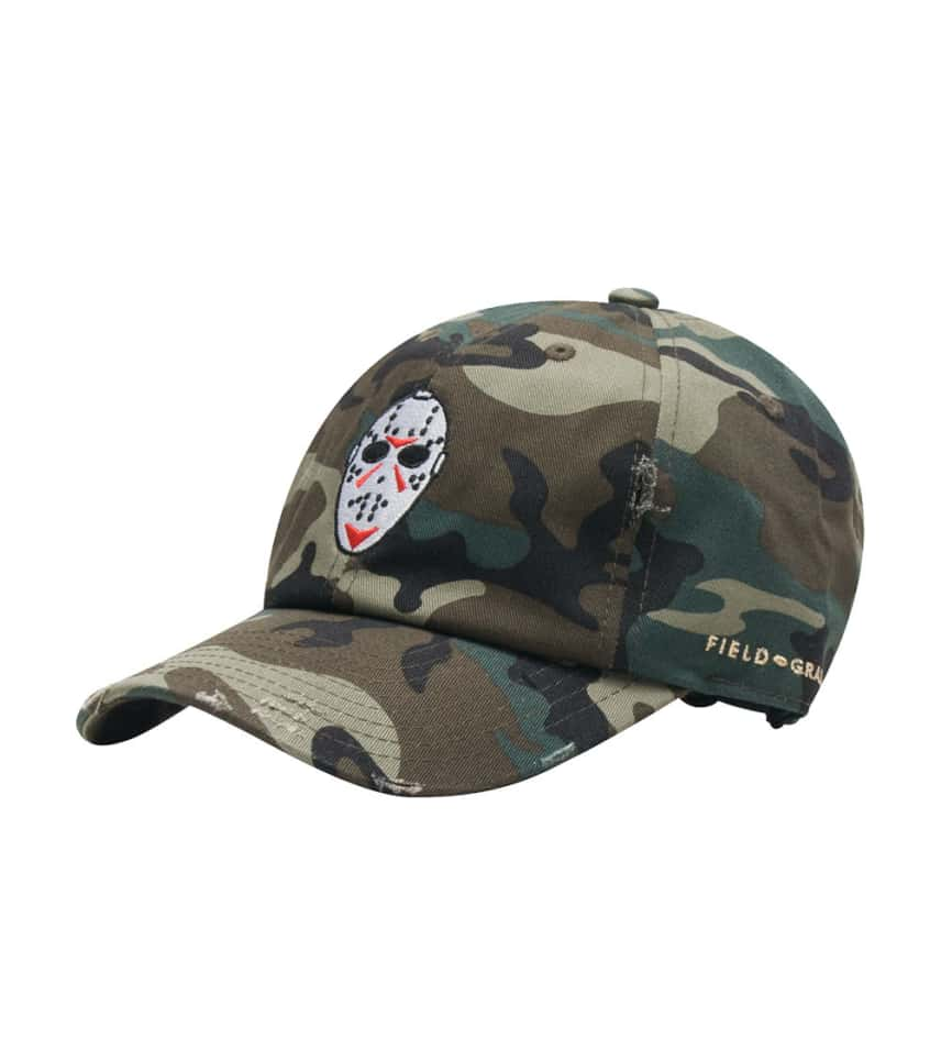 Field Grade Jason Mask Distressed Dad Hat (Multi-color) - 1000901H ... 398cee9b5bc