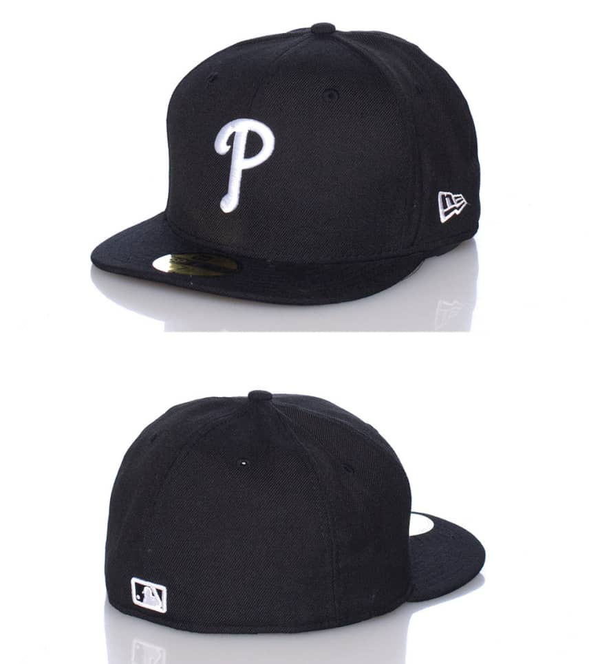 New Era Philadelphia Phillies Mlb Fitted Cap (Black) - 10023435 ... ff99062afe2