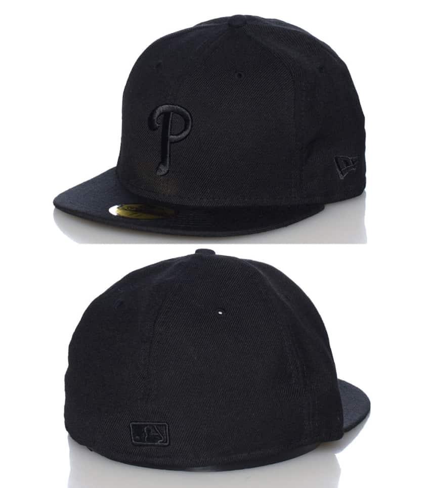 buy popular b0c5f 49251 New Era PHILADELPHIA PHILLIES MLB FITTED CAP.  9.98orig  33.00. COLOR  Black