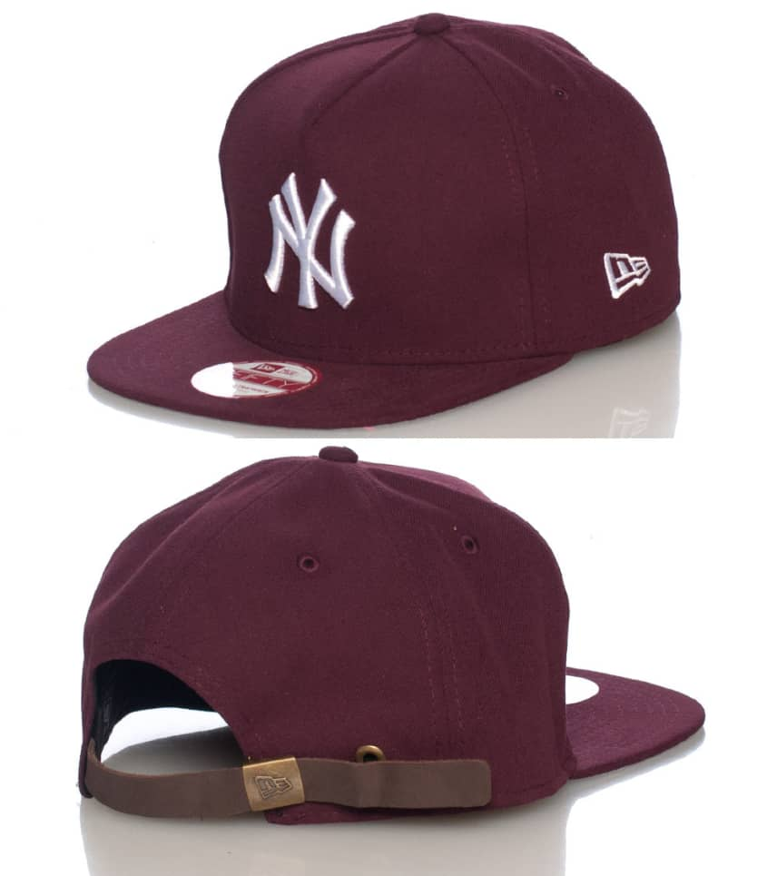 New Era NY Yankees Mlb Strapback Cap (Burgundy) - 10887465H  5b327b7c817