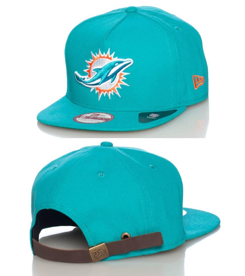 New Era Miami Dolphins NFL Strapback Cap (Medium Green) - 10887585H ... 3ba64b48ac6