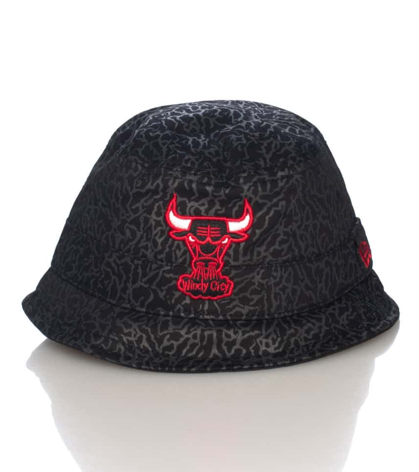 New Era Elephant Allover Bulls NBA Bucket Hat (Black) - 10892562H ... d4399955193