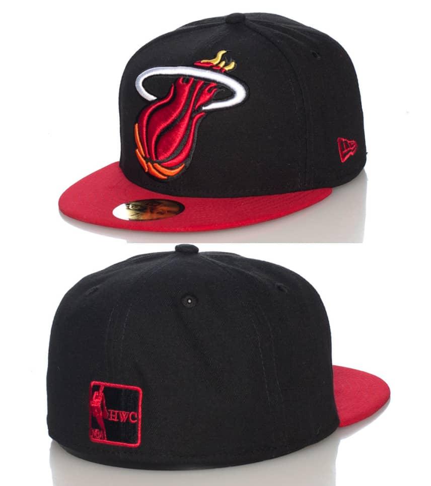 meet d2b52 4fbf8 NEW ERA MIAMI HEAT NBA FITTED CAP