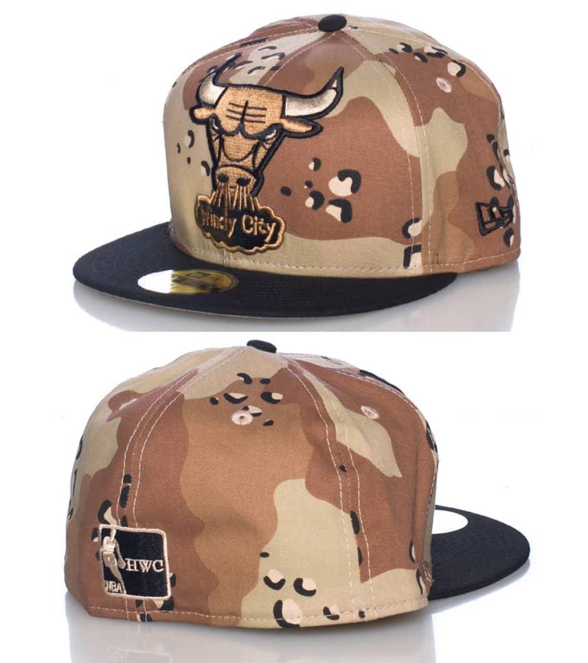 340d2ec6213 New Era CHICAGO BULLS NBA CAMO FITTED CAP (Brown) - 10939494