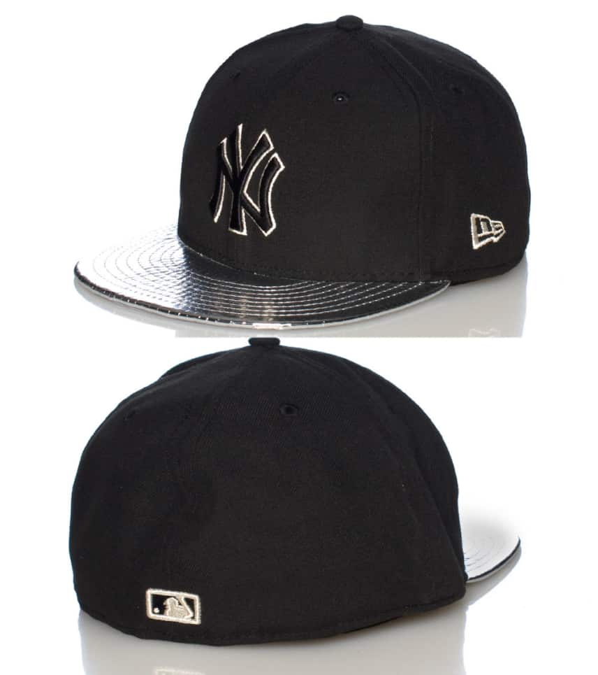 New Era Metallic Slither NY Yankees Fitted Cap (Black) - 109395061 ... 3dee1720e1f