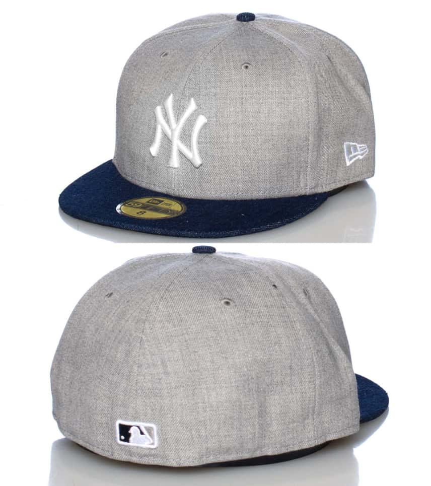 New Era Topped Up Denim NY Yankees Fitted Cap (Grey) - 109459571 ... 9323f2b4536