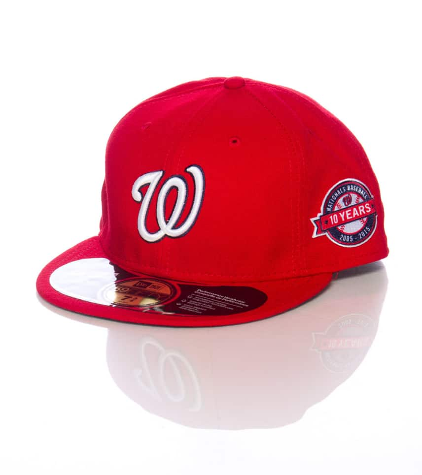 New Era WASHINGTON NATIONALS FITTED CAP (Red) - 11182312H  eb7cc5607e3