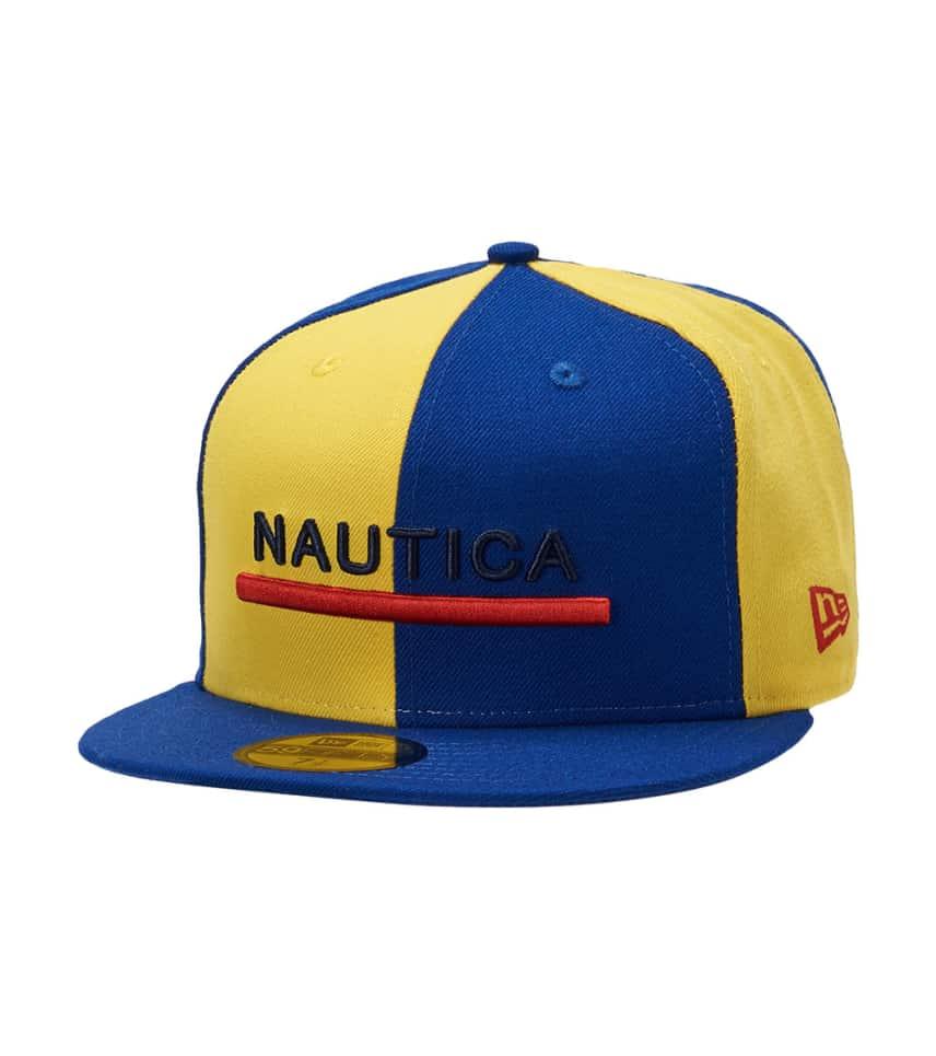 New Era Nautica Color Block 59fifty Hat (Blue) - 11863586H  d8ced6bd24a