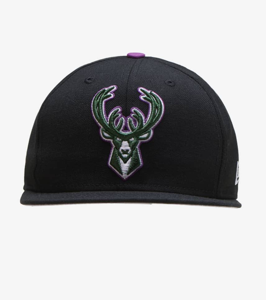 5c8070e1f03326 New Era Milwaukee Bucks 59FIFTY Snapback (Black) - 12109329H | Jimmy ...