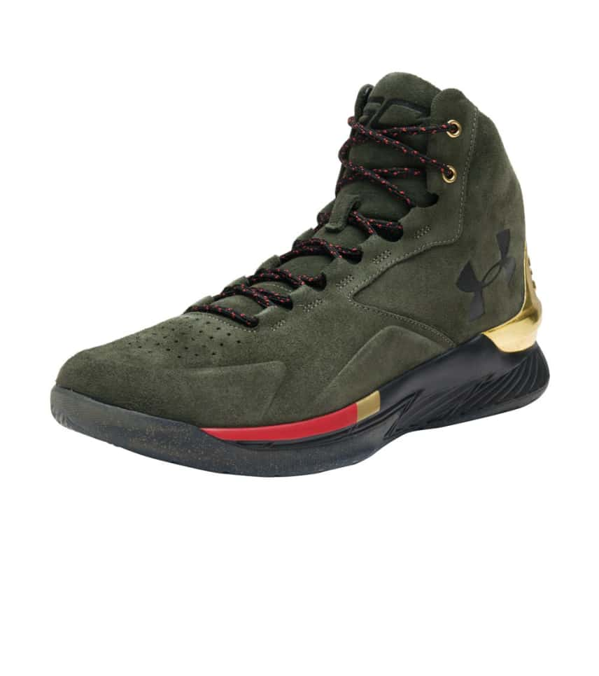 a23f246d5 Under Armour CURRY 1 LUX MID SUEDE (Dark Green) - 1296617-330 ...