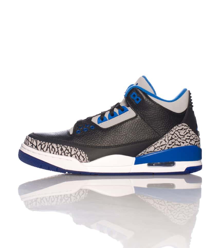 15b1519acdcc Jordan RETRO 3 SPORT BLUE SNEAKER (Black) - 136064007