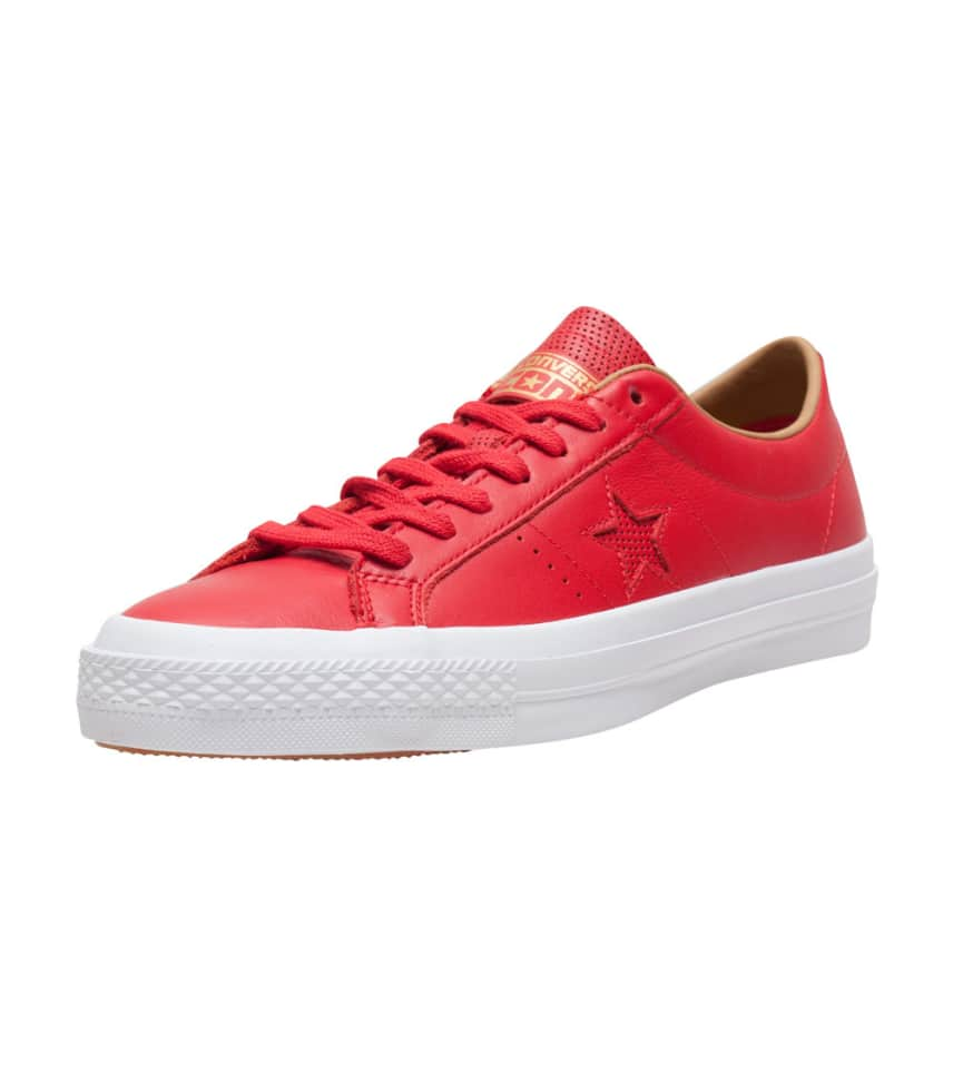 f86cf12fc375 Converse ONE STAR LEATHER OX SNEAKER (Red) - 153699C