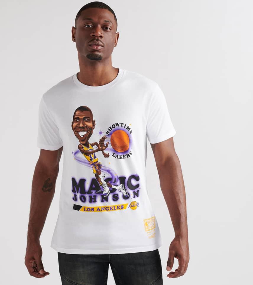 b7fd8986 Mitchell and Ness Lakers Magic Johnson Salem Tee (White) - 18353LA ...