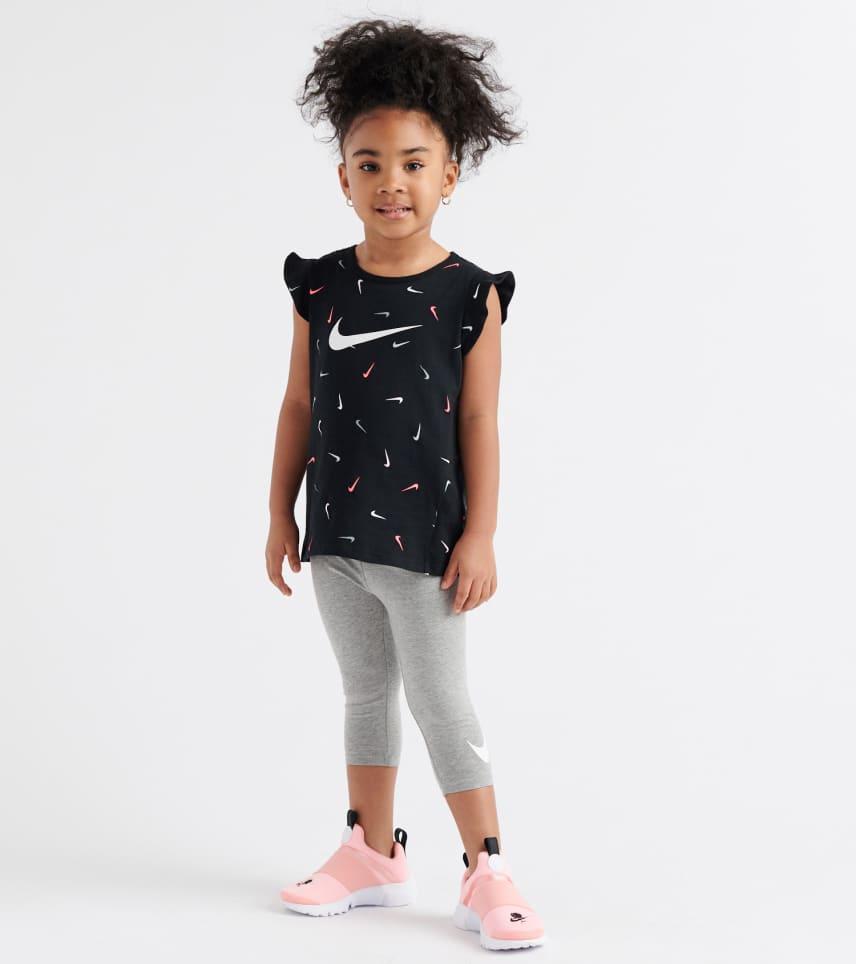 e0494401d Nike Swoosh Fetti Tunic Capri Set (Black) - 26E669-042 | Jimmy Jazz