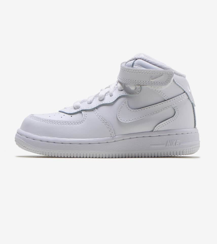 bcdad69a05 Nike AIR FORCE ONE MID SNEAKER-INFANT TODDLER (White) - 314197-I ...