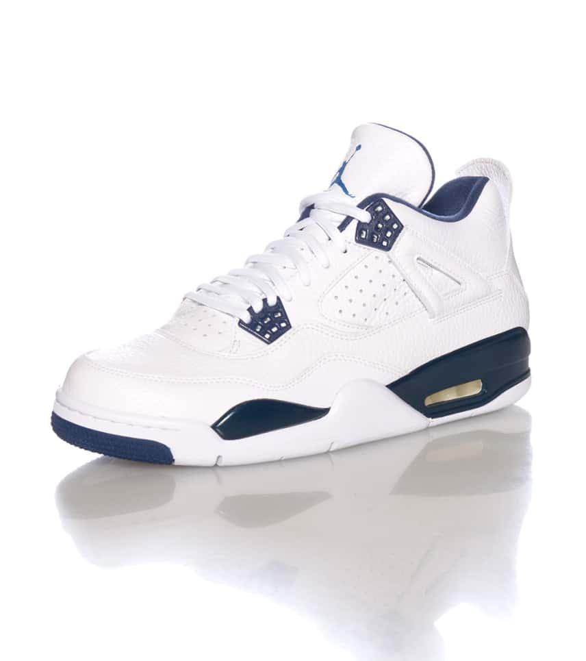 4cf57914f83 Jordan RETRO 4 LEGEND BLUE LS SNEAKER (White) - 314254107