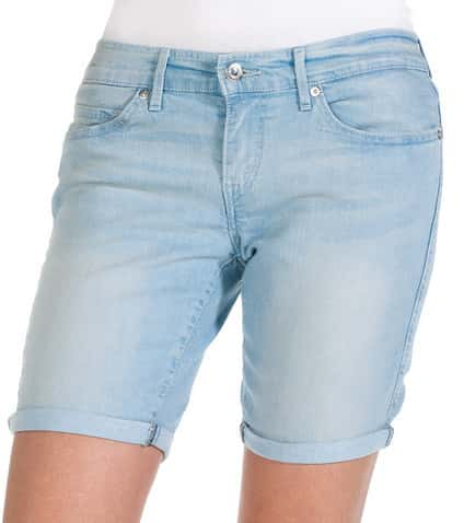 971c3232 Levis HEMMED BERMUDA SHORT (Blue) - 325700018 | Jimmy Jazz