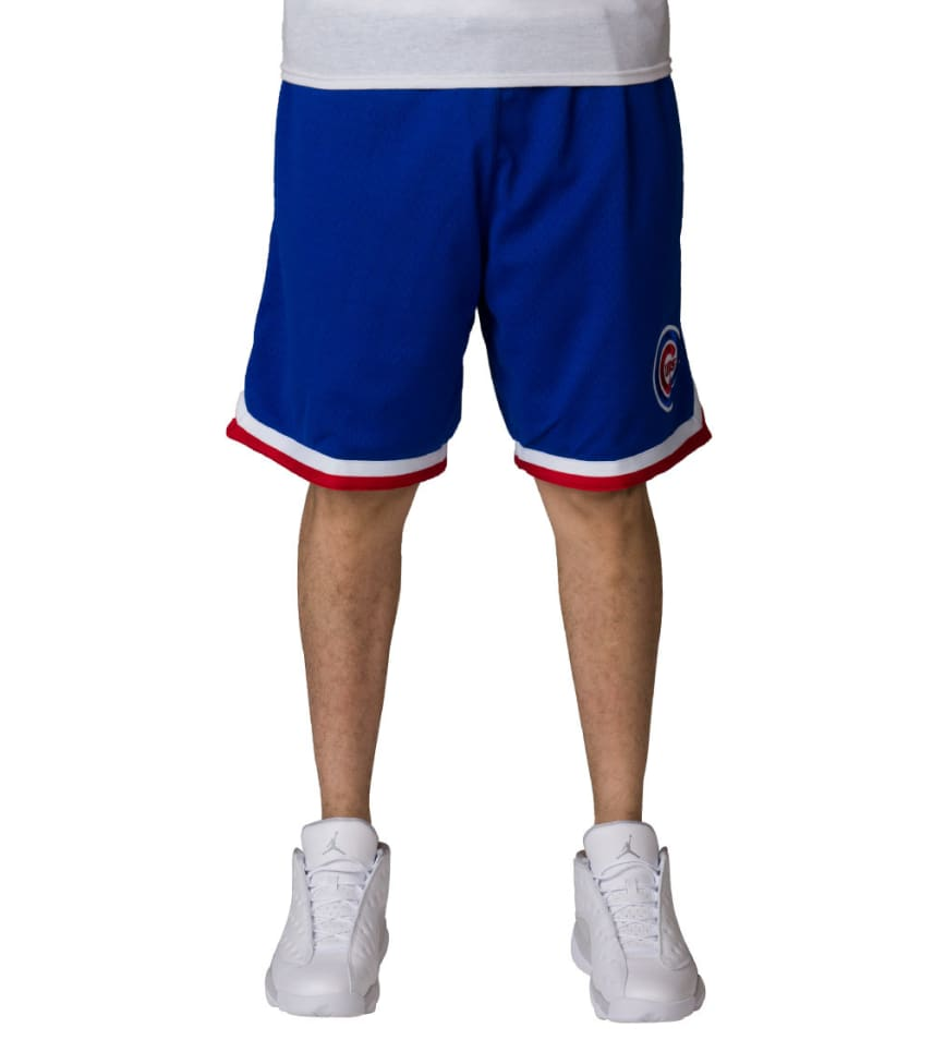 d726d08a9 Mitchell And Ness Chicago Cubs Playoff Win Shorts (Blue ...