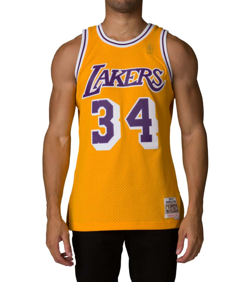 3271e57fcf0 Mitchell and Ness LA Lakers Shaquille Oneal Jersey (Gold ...