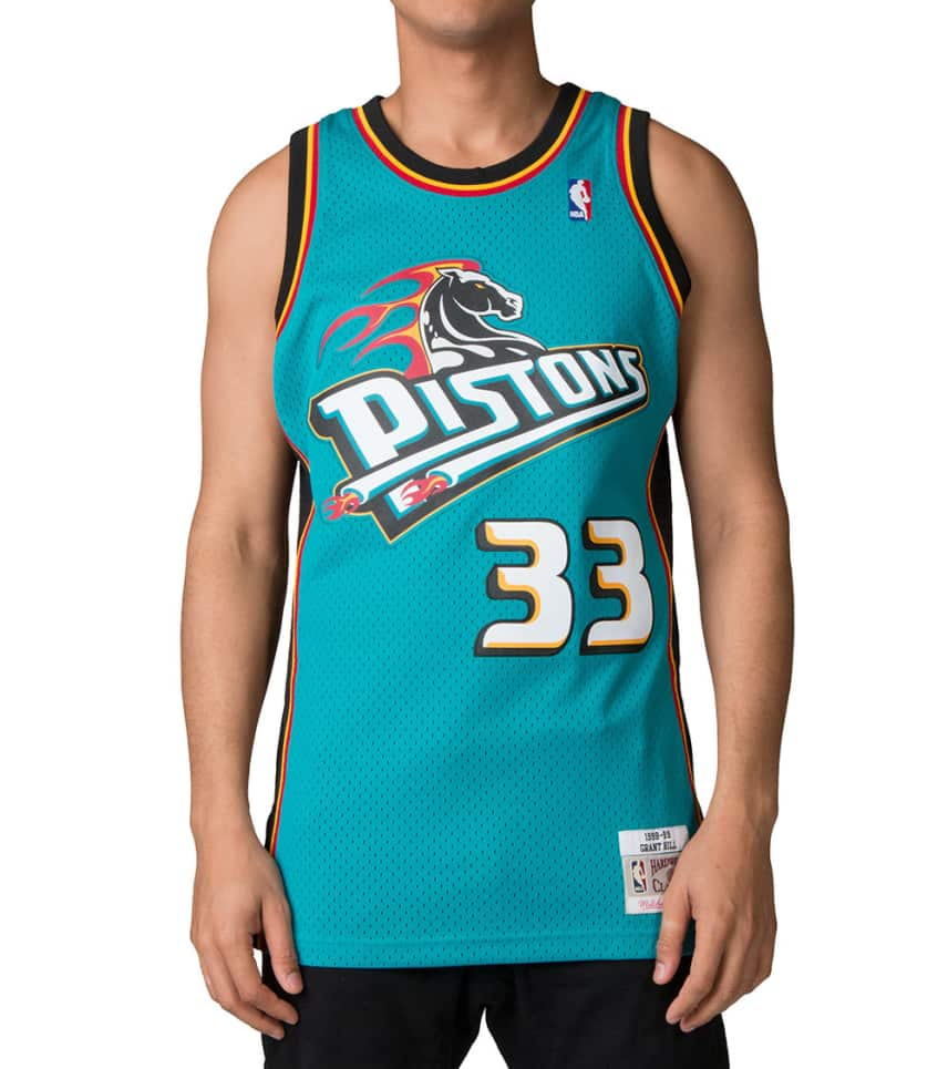 ec061a76dc2c Mitchell and Ness Detroit Pistons Grant Hill Jersey (Medium Green ...