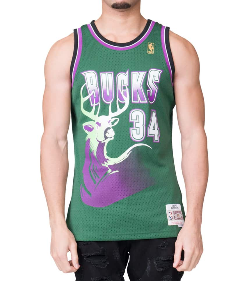 Mitchell and Ness Ray Allen  34  Swingman Jersey (Green ... a4cc8c0973b4