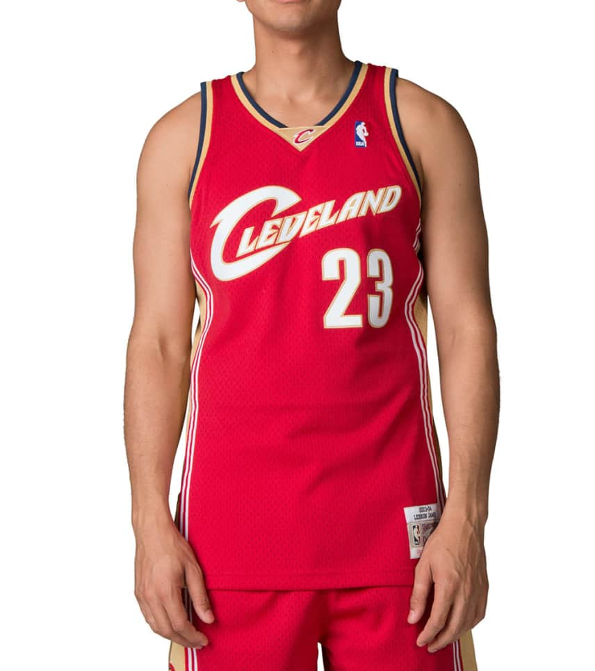 e4dea1eff569 Mitchell and Ness Cleveland Cavaliers Lebron James Jersey (Red ...