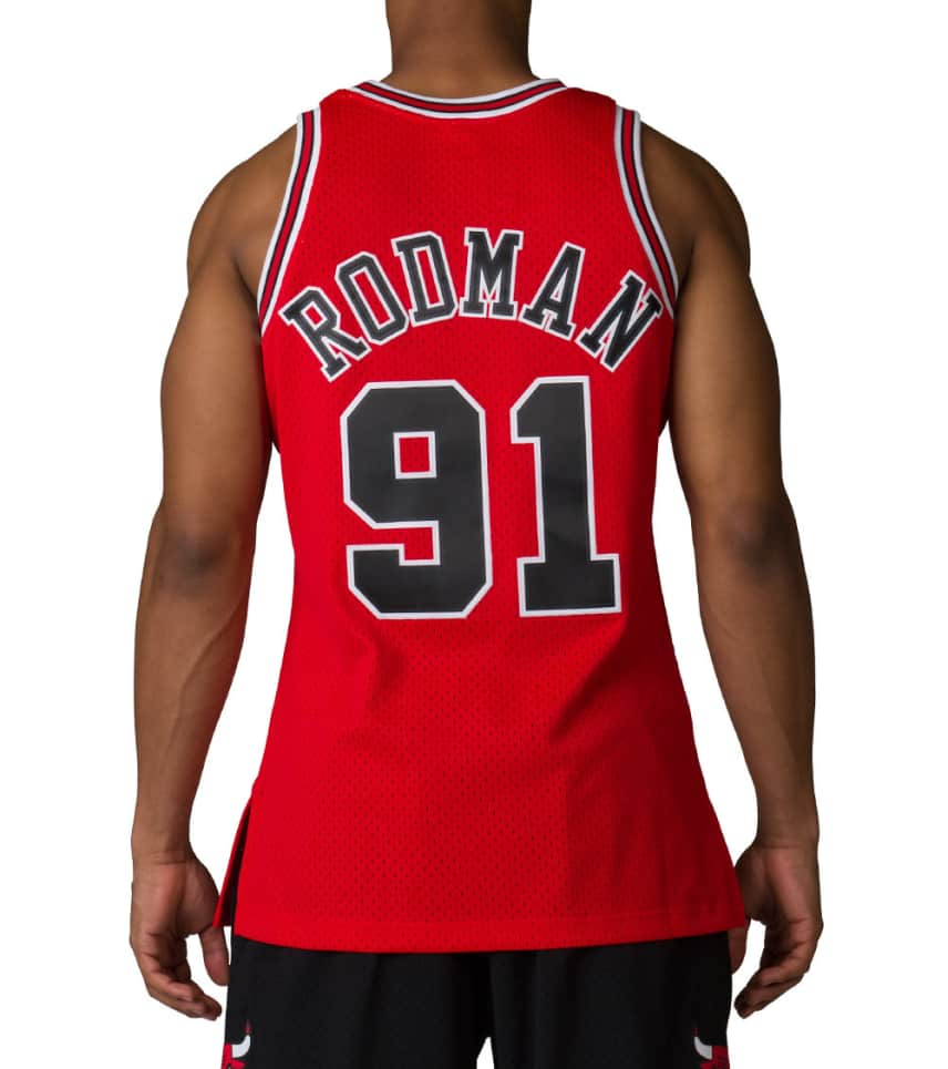 Mitchell and Ness Chicago Bulls Dennis Rodman (Red) - 353J328FGYY ... 04ad6f10e8a0
