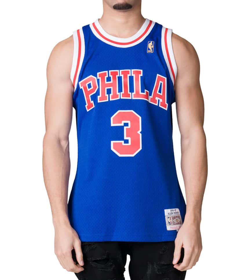 e137ae7d6ad Mitchell and Ness All Star Allen Iverson  3  Jersey (Royal ...