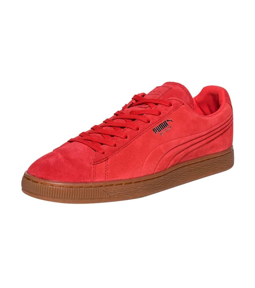 c2ba5215bed586 Puma SUEDE EMBOSS LO SNEAKER (Red) - 360747-05