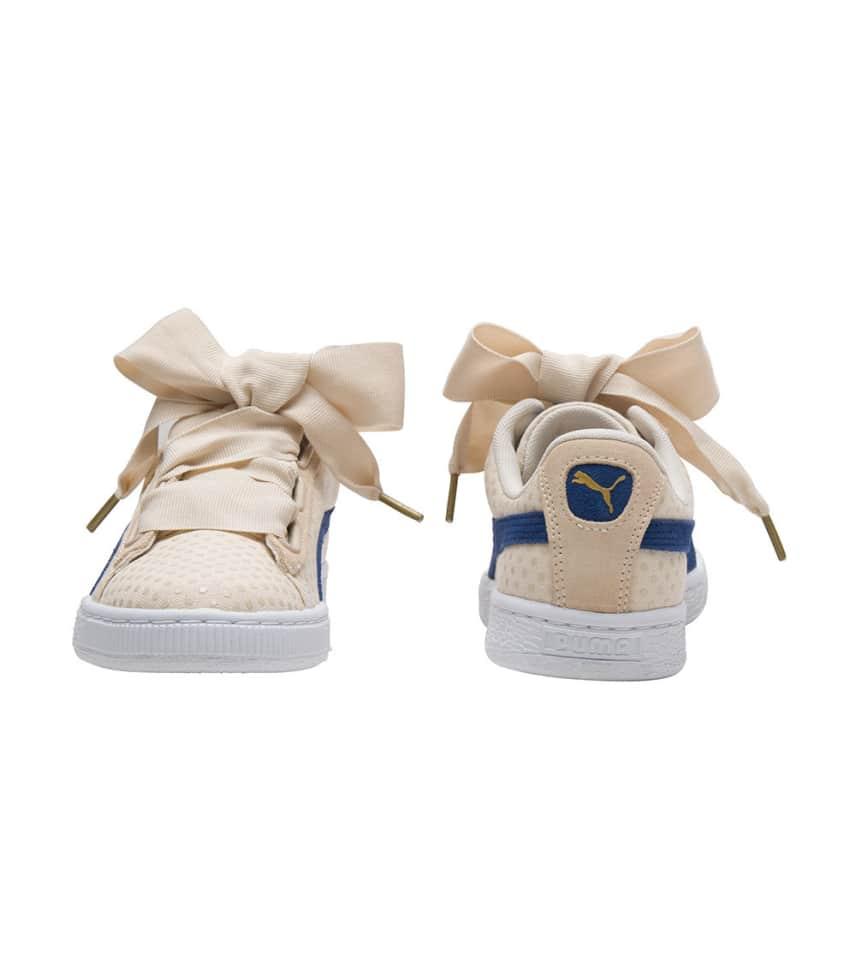 7fa2f782601d Puma Basket Heart Denim (Beige-khaki) - 363371-03