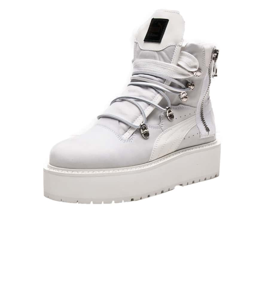 ee7f2d0a4353f0 Puma RIHANNA SNEAKER BOOT (White) - 363475-01