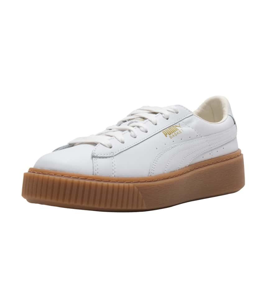 52f5ef0a3792 Puma Basket Platform Core Sneaker (White) - 364040-01