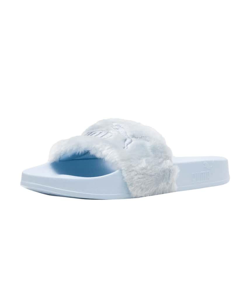 5d6458ad4 Puma Fenty Puma Fur Slides (Medium Blue) - 365772-03 | Jimmy Jazz