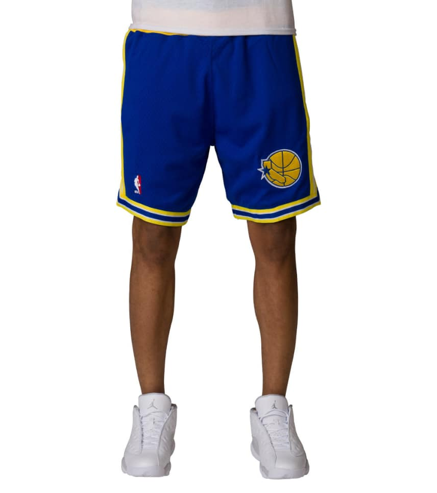 Mitchell and Ness Golden State Warriors NBA Shorts (Blue ... 657768929