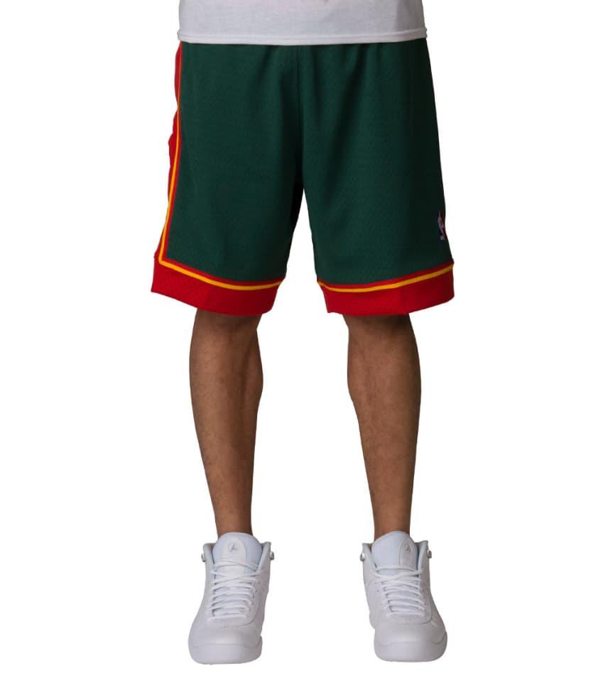 ffbf11da0ca Mitchell and Ness Seattle SuperSonics NBA Shorts (Dark Green ...