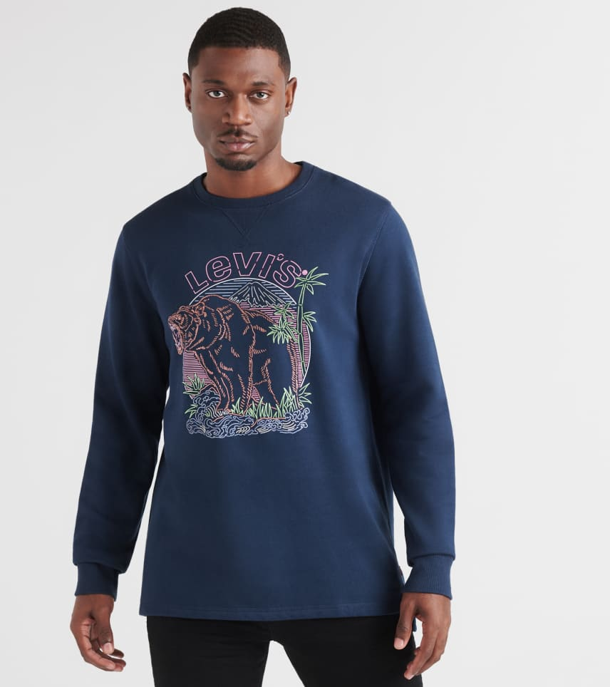 Levis  Kaybee Long Sleeve Fleece Crewneck