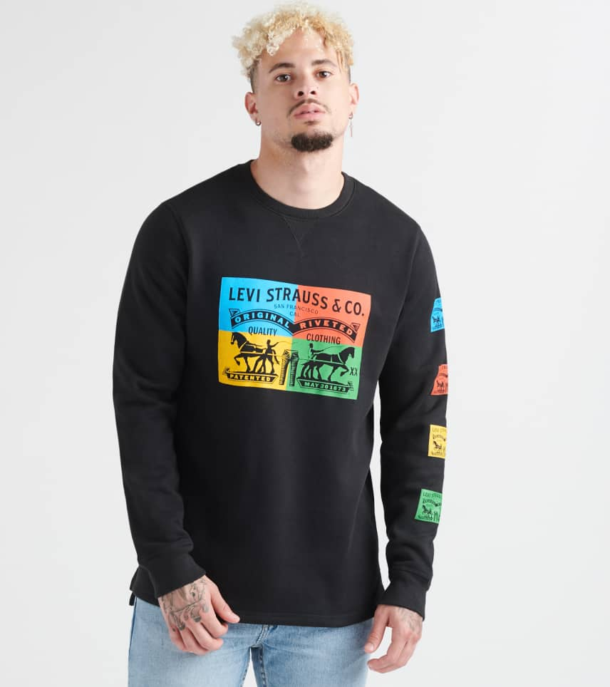Levis  Blacks Kaybee Fleece Crewneck Sweatshirt