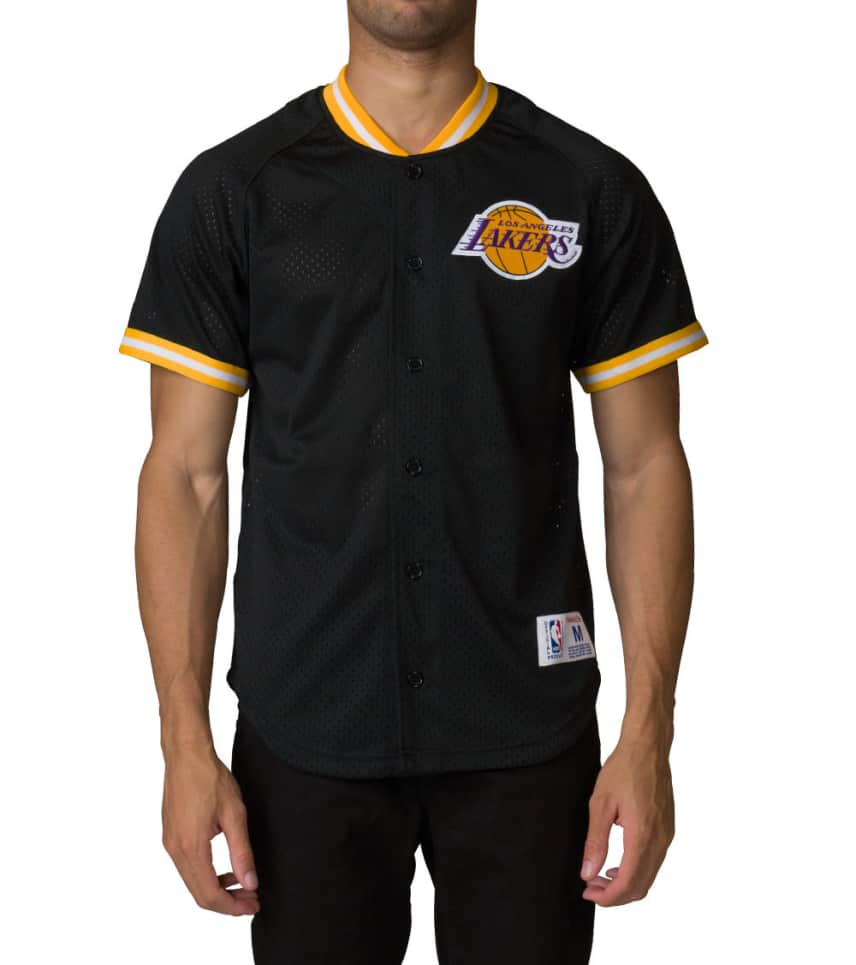 lakers button up jersey c10c48