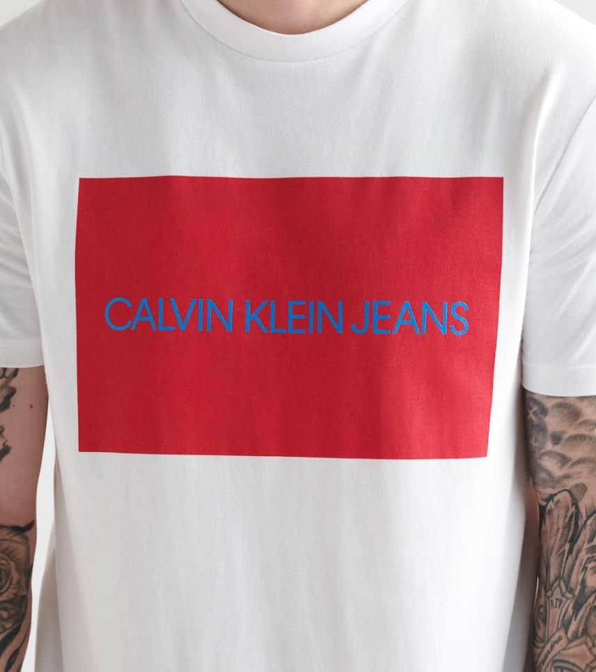 c04c4ecf5 Calvin Klein Boxed Logo Crew Tee (White) - 41BK744-103 | Jimmy Jazz