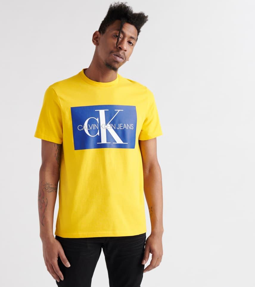 c164d8def64b Calvin Klein Box Monogram Tee (Yellow) - 41J7448-702 | Jimmy Jazz