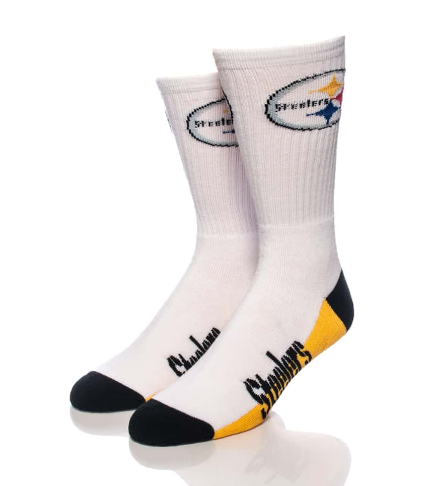 purchase cheap 71575 47be1 FOR BARE FEET PITTSBURGH STEELERS CREW SOCKS