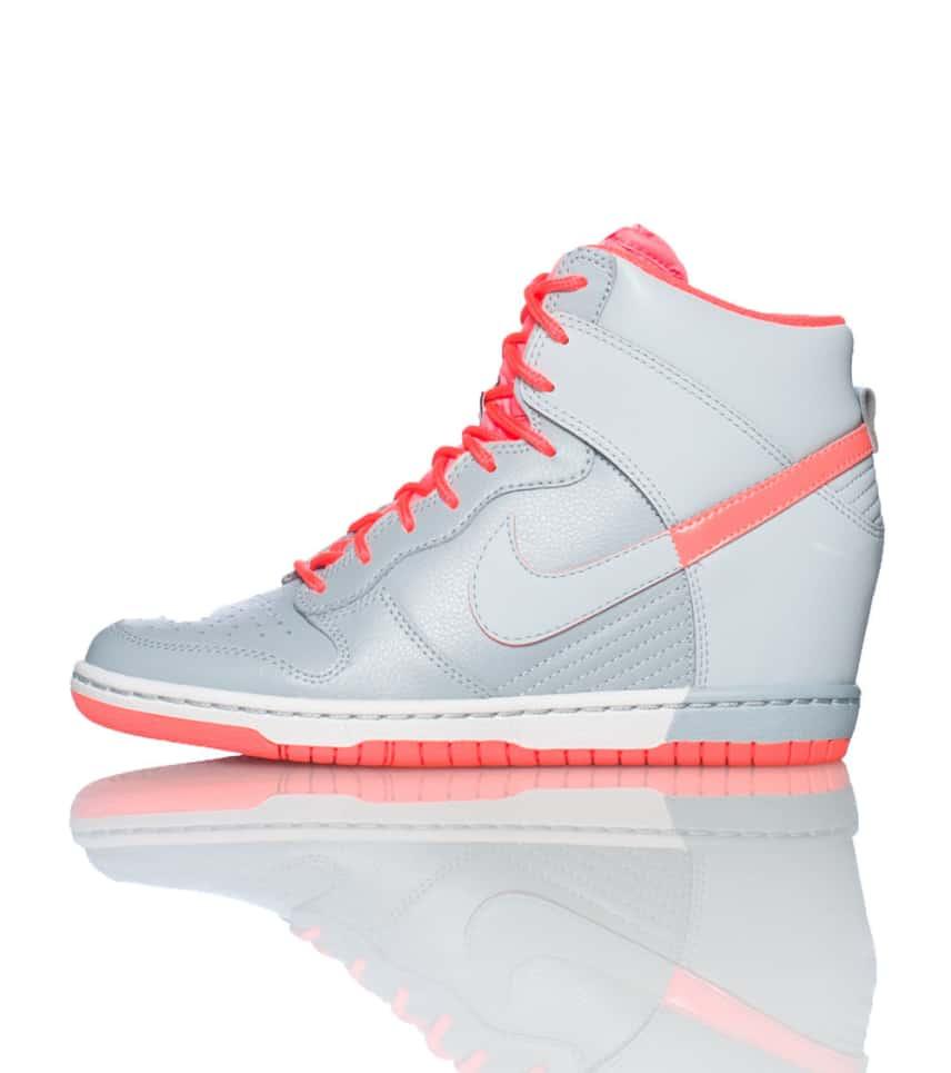 NIKE SPORTSWEAR Dunk Sky Hi Wedge Sneaker (Grey) - 528899006  d734e75405b4