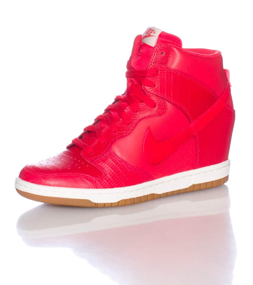 NIKE SPORTSWEAR Dunk Sky Hi Wedge Sneaker (Red) - 528899603  3da1c05633
